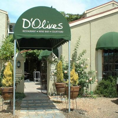 D'Olives restaurant awning.